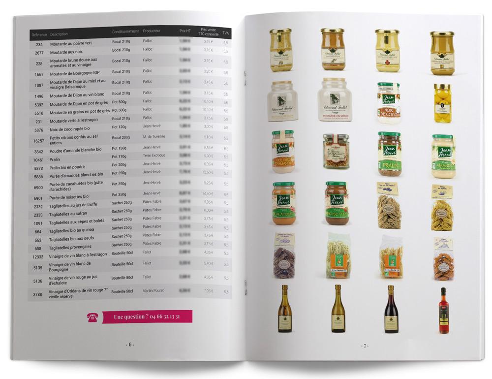 Catalogue fournisseur épicerie fine